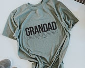 Custom GRANDAD Tee Shirt, Dad Tee, Father's Day Gift, Custom Dad Gift, Dad Tee, Dad Gift, Father Gift, Children's Names, Grandfather Gift