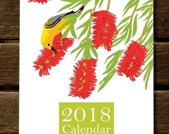 2018 Garden of Birds Wall Calendar