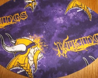 Mouse Pad NFL Minnesota Vikings MousePads Mouse Mat Office Accessories Office Decor Desk Accessories Handmade Football  Rectangle Shape Gift