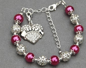 Niece Charm Bracelet, Aunt and Niece, Niece Gift, Present from Aunt, Family Jewelry, Present for Niece, Niece Wedding Gift