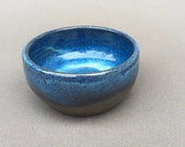 SMALL little blue bowl for prep work or trinkets or serving handmade
