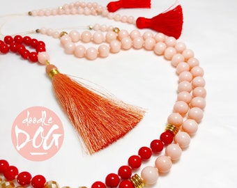 Celebration Triple Tassel Mala