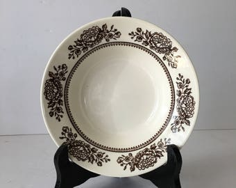 Royal China Replacement Deep Soup Bowl in Sussex Pattern Beautiful Brown Botanical Anthropologie Style Cavalier Ironstone
