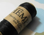 TAX Season Sale One New 100 foot spool of top quality, imported, 3-ply polished 0.5mm thick black  hemp cord