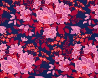 Joel Dewberry Fabric, Flora, Rose Bouquet in Orchid  cotton quilting fabric - FAT QUARTER