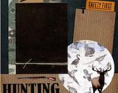 Jagd - vorgefertigte Scrapbook Seite