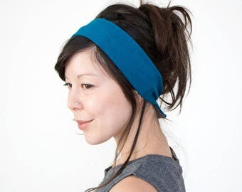 SALE SEE DESCRIPTION Teal Skinny Tie Back Headscarf