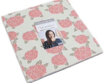 """Bayberry Moda Layer Cake, 42 - 10"""" precut fabric quilt squares by Kate & Birdie"""