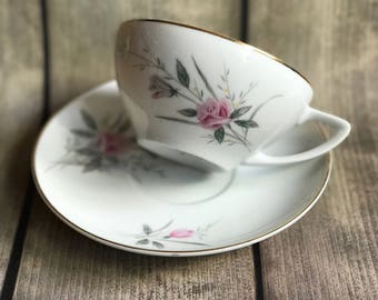 Golden Rose Teacup and Saucer