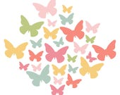 Butterfly Cluster Cut File .SVG .DXF .PNG