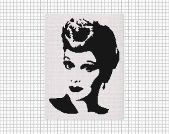 Instant Download Chella Crochet LUCY Silhouette Afghan Crochet Pattern Graph Chart .PDF