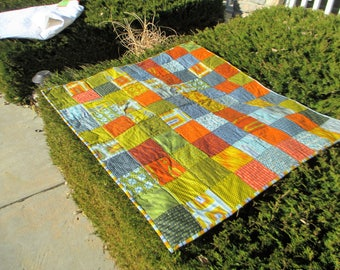 "NEW boy or man's quilt featuring Parson Gray fabric from Free Spirit 39"" x 43"""