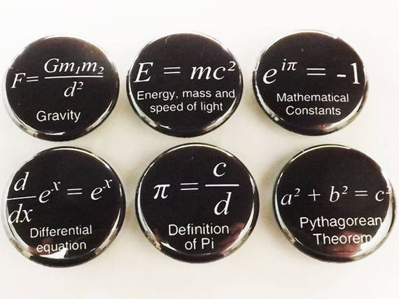 Math Magnets, back to school, arithmetic gift, science, forumlas, fridge magnet set, teacher student, locker decoration, home decor, kitchen