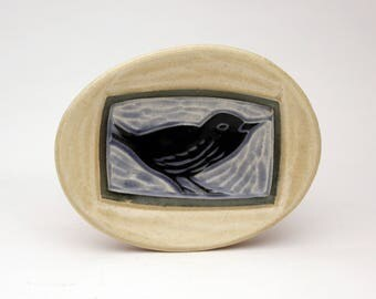 Hello Bird- little oval dish- Ruchika Madan