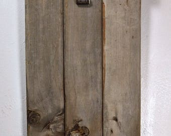 Rustic clipboard photo frame or display 8x10