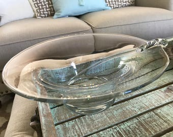 Rosenthal Germany Crystal Bowl Centerpiece Art Glass Bowl TYCAALAK