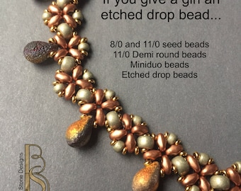 Crazy for (Etched) Drop Beads - a tutorial