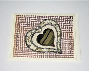 Greeting Card Quilted Heart