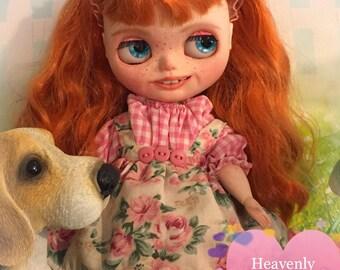 Blythe Doll Customized Chubby custom made Art Doll One of a Kind