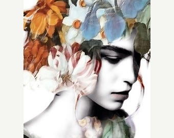 HUGE SUMMER SALE 40% off Art, Photography, Surreal Photography, Woman Portrait, Ethereal Photo Montage, Fine Art Print, Photomontage, Collag