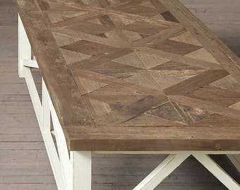 """Parquet X Driftwood Coffee Table (50"""" x 30"""" x 18"""" H)"""