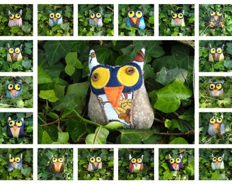 little owl with the mask / soft toy /  collectibles /  children / adults /  lucky charms / gift idea /Gift for an Owl Lover / stuffed owl /