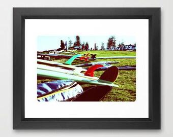 Retro Longboards on Cottesloe Beach, Western Australia. Surfing beach print, A4 8x10 photographic print