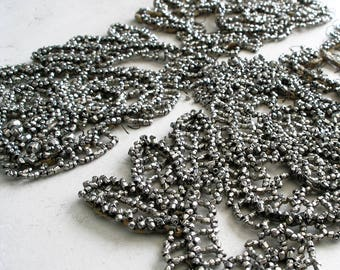 Faceted Hex Seed Beads Antique Beaded Appliques For Beaded Jewelry Making