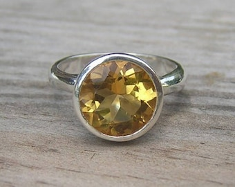 ROCK Fetish in Citrine and Sterling