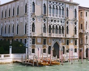 Venice Decor, Italy Photo, Nautical Decor, Wooden Boats, Fine Art, Wall Decor, Boat Photography, Gothic Arches Venetian Gothic, Architecture