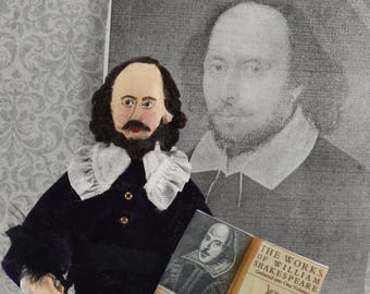 William Shakespeare Doll Miniature Classic Literature Author Playwright Collectible Figurine
