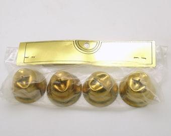 Vintage Jingle Bells Christmas Decoration Gold Metal Bells