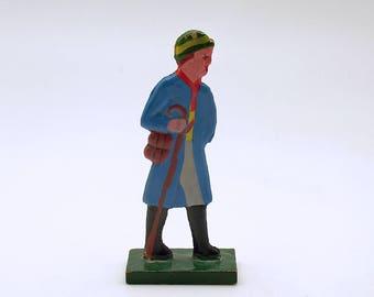 Antique Miniature Wood Figurine Erzgebirge Flachfiguren Germany
