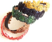 Beaded and sequinned headbands, headbands for women, hair accessory