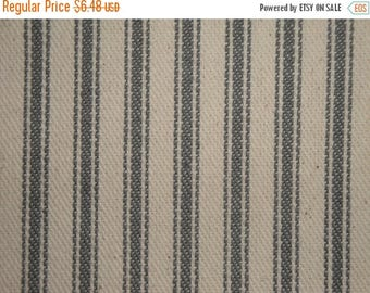 SALE SALE SALE Ticking Stripe Material | Striped Fabric | Vintage Inspiried Ticking | Steel Gray |  24 x 44