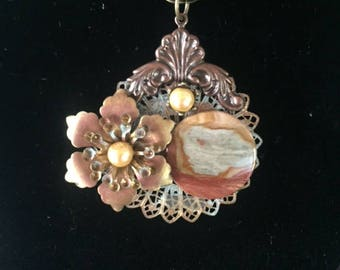 Victorian Natural Stone Necklace