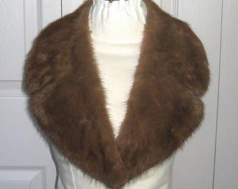 mink fur collar . mink collar . genuine mink collar
