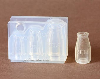 Dollhouse Miniature Milk Bottle Silicone Mold