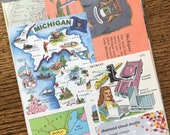 Let's Travel to Michigan Vintage Collage, Scrapbook and Planner Kit Number 2599
