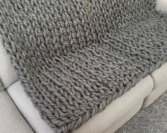 Chunky Knit Blanket  - Arm Knit Throw - Chunky Knit Throw - Arm Knit Blanket - 40x60 or 50x70