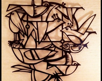 Circle Birds Wall Art