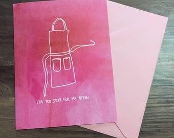 Apron Valentine Single Card