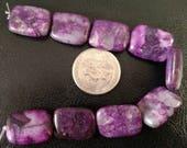 Crazy Lace Agate Beads, Crazy Lace Agate, Purple Beads, Gemstone Beads, Purple Agate Beads, Dyed Beads, Dyed Agate Beads, Unique Beads