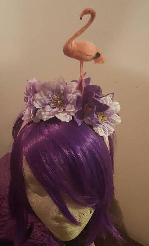 ae7672f3fca8 flamingo headband fascinator pin up rockabilly tiki oasis msformaldehyde
