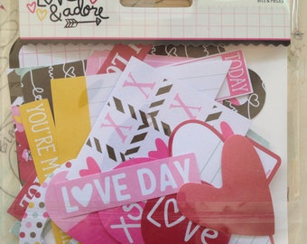 Love & Adore - Simple Stories, Bits and Pieces, Ephemera