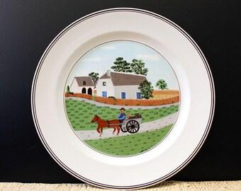 Laplau dinner plate, Villeroy and Boch Design Naif. VITRO porcelain. Going to Market.
