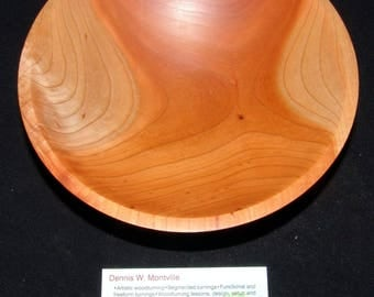 "Cherry Wood Turned Bowl – ""Random Emotions"" – Natural Color in a Classic Form"