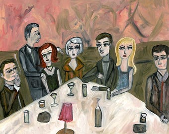 Night Out.  Limited edition print by Vivienne Strauss.