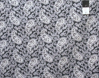 Verna Mosquera PWVM149 Candelabra Paisley Potion Crow Cotton Fabric By Yd