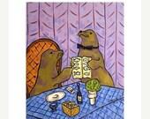 SALE 20% off all items Sea lion Food Critic Animal Art Print